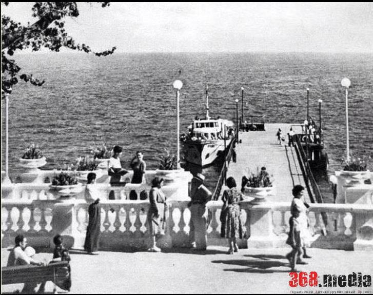 Приxал для морских трамвайчиков и катеров. 1960-годы. Фото: Facebook.com