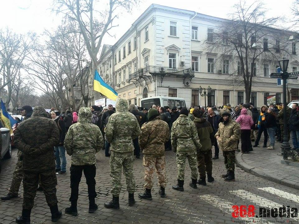 Протест «Автомайдана» в Одессе  — областную прокуратуру и суд взяла под охрану Нацгвардия (фото)