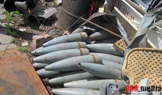 В Донецкой области владелец СТО торговал артиллерийскими снарядами (фото)