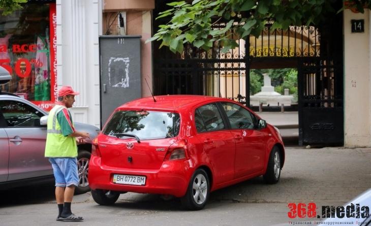Одесская милиция игнорирует парковочных мошенников