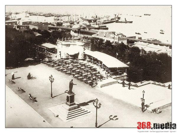 Рыбный ресторан на Николаевском бульваре в начале XX века. Одесса, Российская империя.