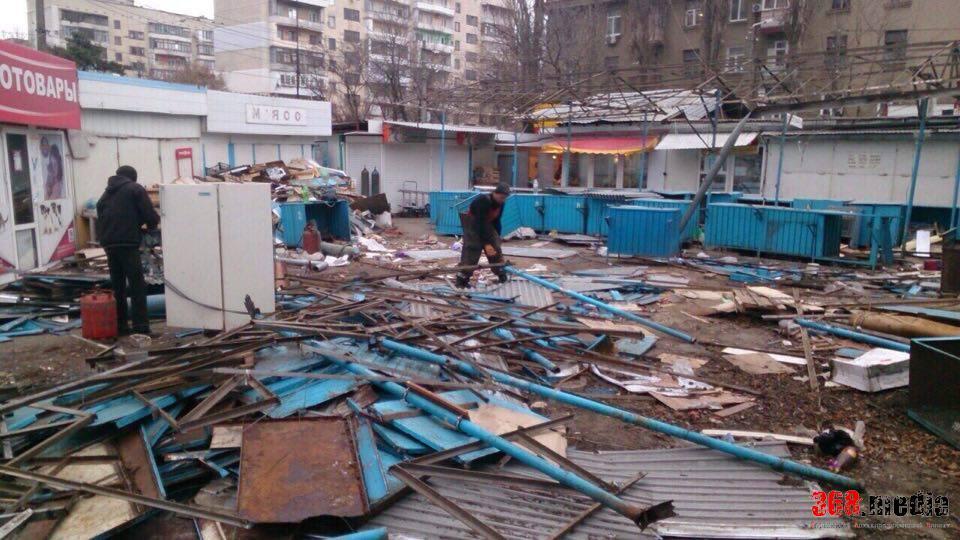 Одесский «МАФиози» Коган сносит рынок-«убийцу» за свой счет (фото)