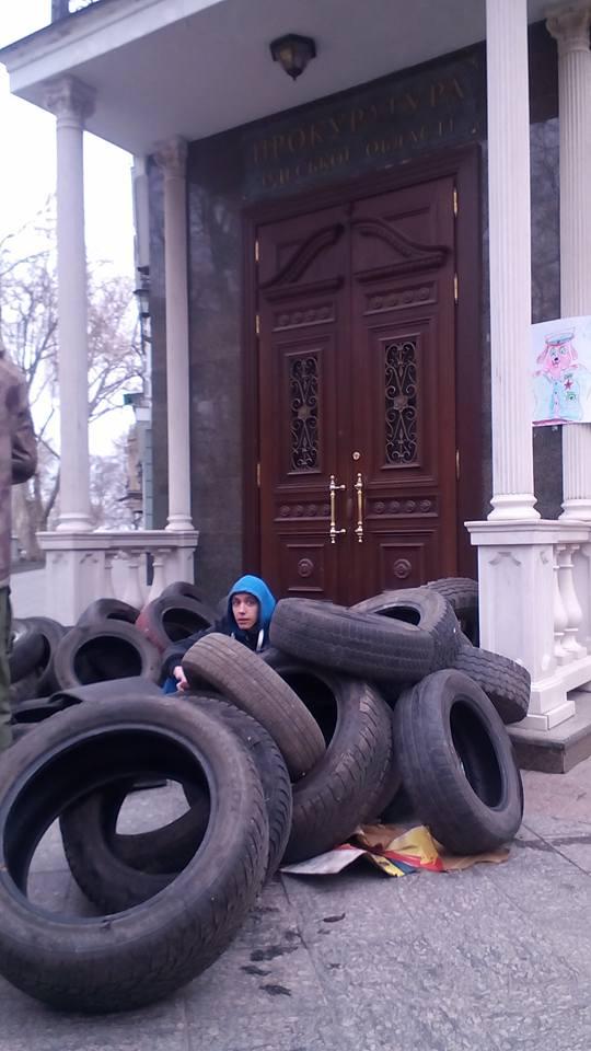 Под прокуратурой Одесской области начали бессрочную акцию против Стоянова