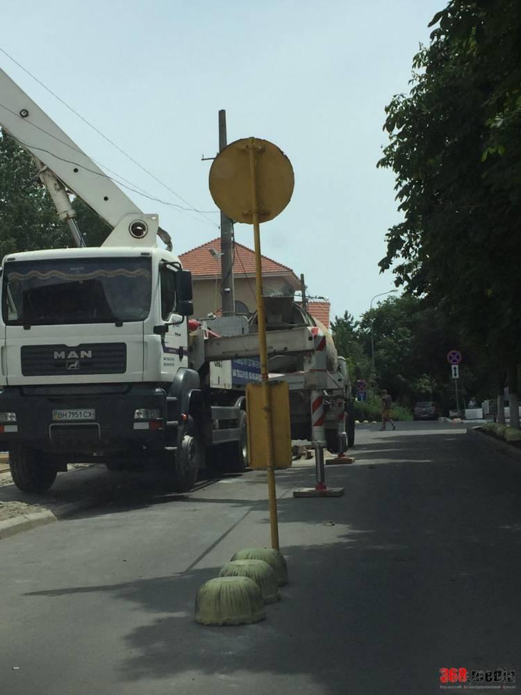 Шандрык подставил Труханова: курортную улицу Одессы заставили бетономешалками