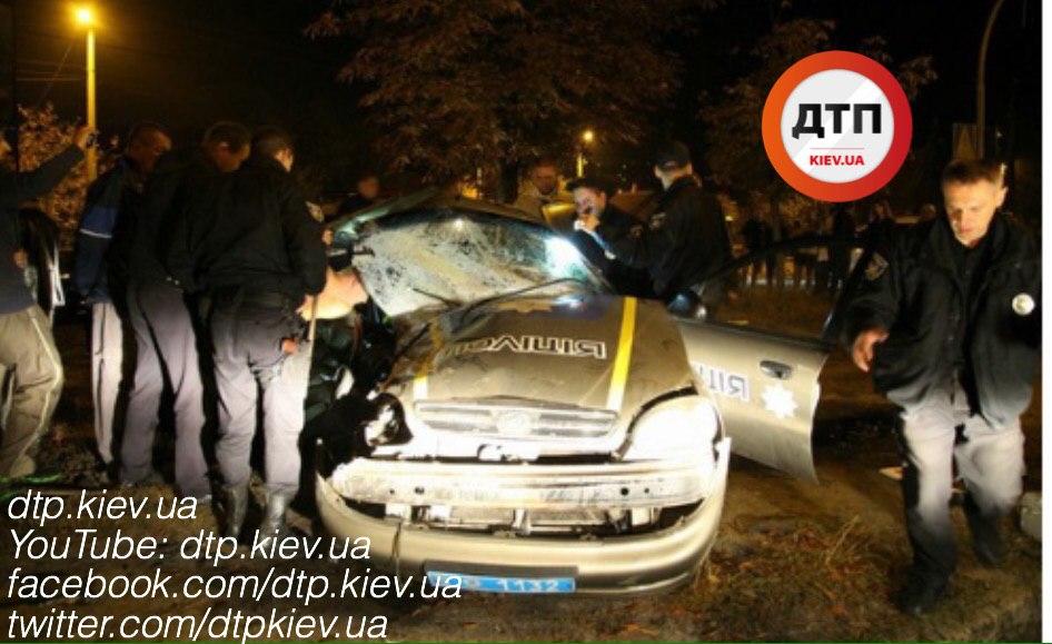 ДТП вБелой Церкви: нетрезвый шофёр наехал наполицейское авто, есть жертвы