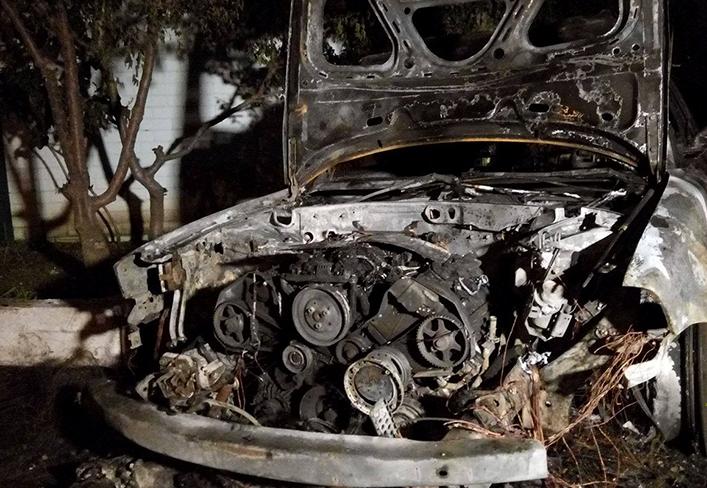 Вгороде Одесса сожгли автомобиль начальника налоговой инспекции