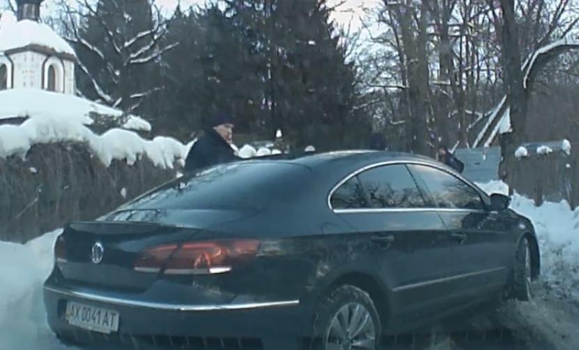 Пьяный подполковник СБУ ушел от наказания (видео)