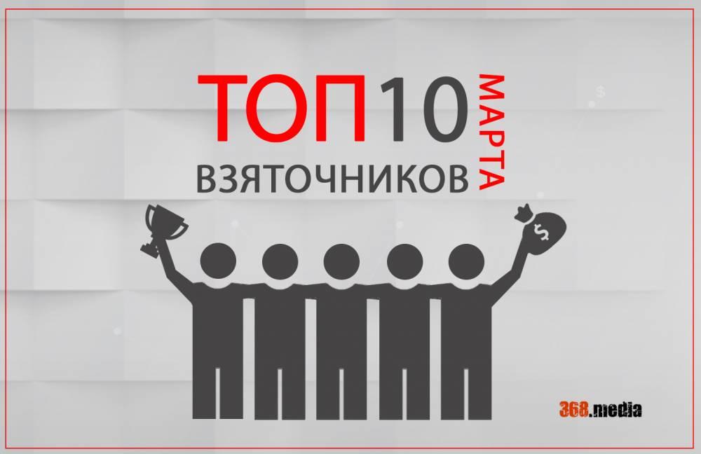 Десятка самых резонансных разоблачений коррупционеров за март (инфографика)