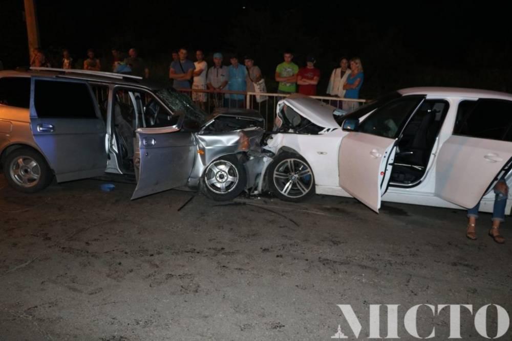 ВИвано-Франковске нетрезвый патрульный пошел натаран БМВ, пострадали 5 человек