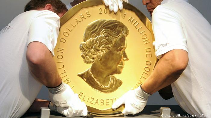 Немецкая полиция арестовала похитителей огромной золотой монеты