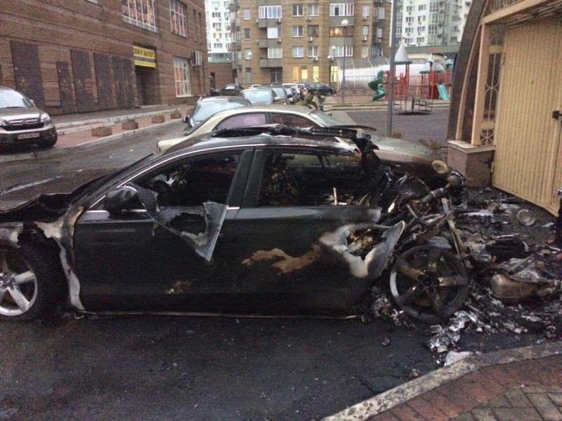 В Киеве сожгли машину экс-министра инфраструктуры