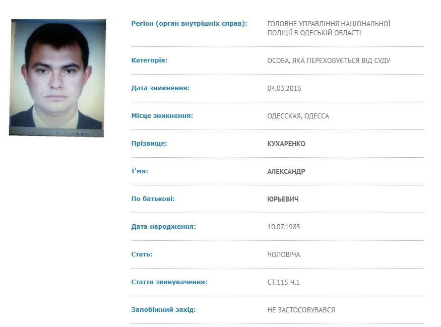 Подозреваемый в смерти одесского прокурора больше года скрывается от следствия