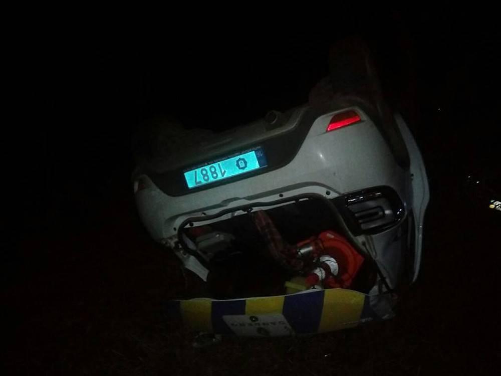 В Одесской области полицейский попал в аварию во время погони