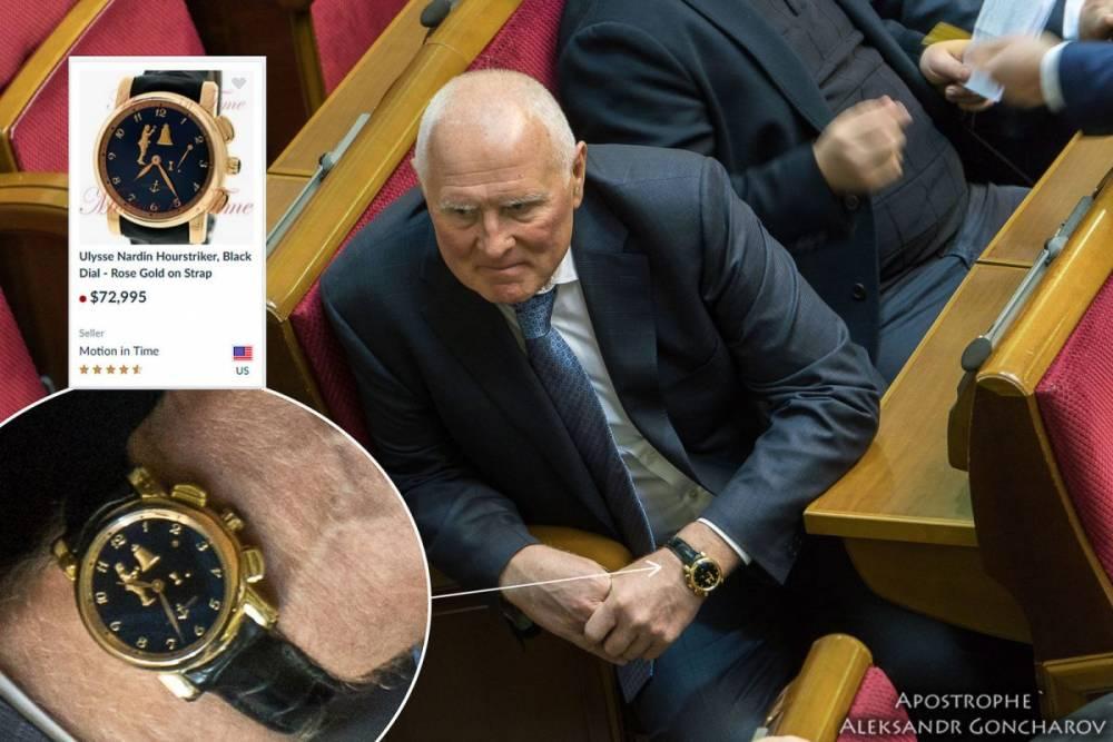 Нардеп Климов носит часы за два миллиона гривен, которых нет в декларации