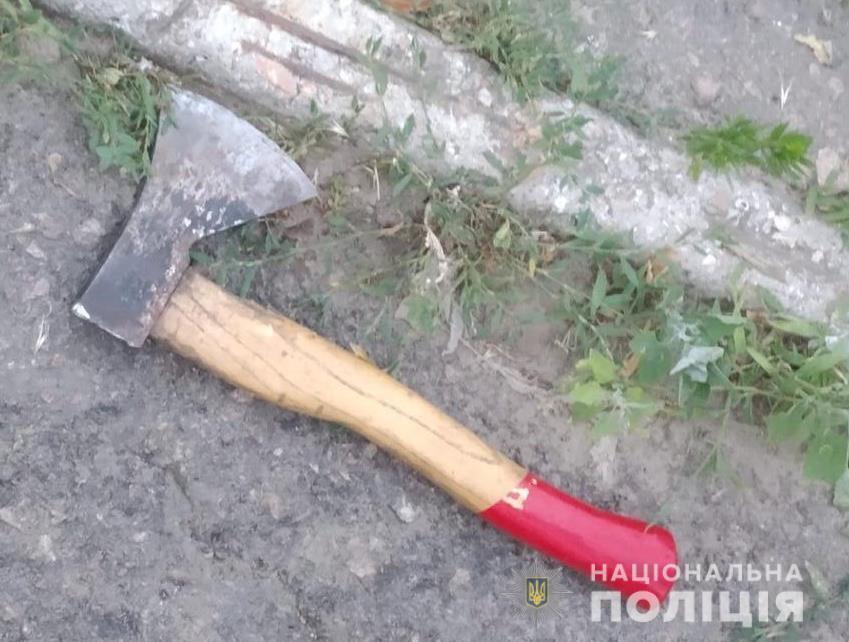 В Василькове пьяный житель пытался убить полицейского топором