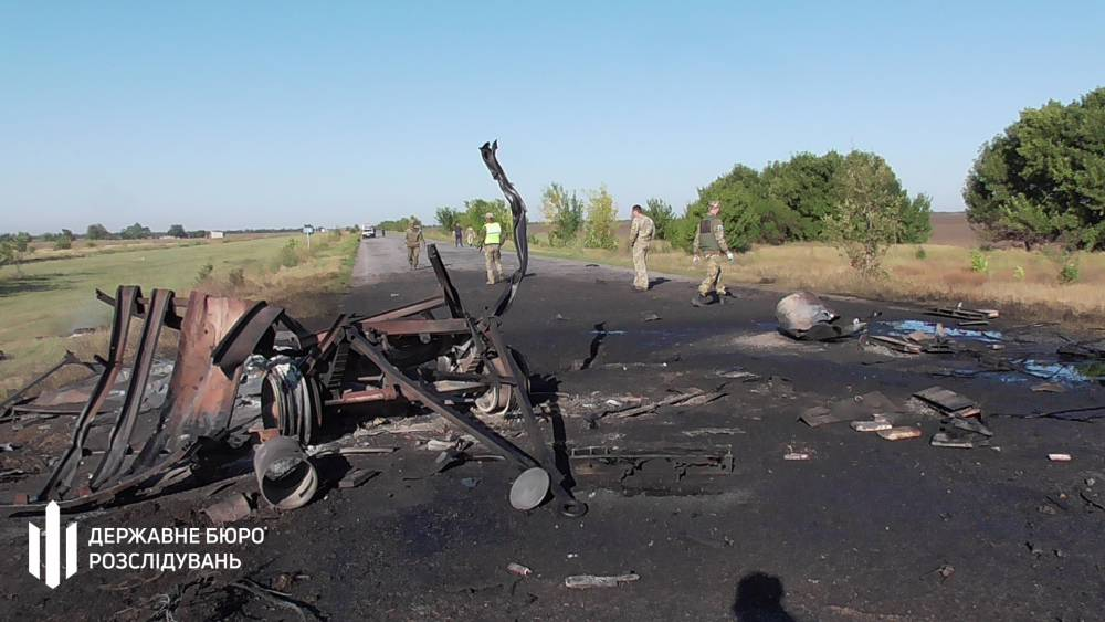 В Запорожской области в военной колонне прогремел взрыв
