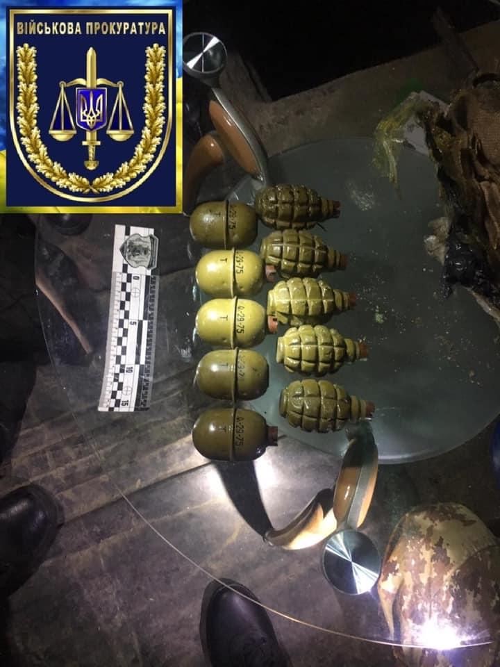 Начальник связи разведбата украл гранаты из зоны ООС