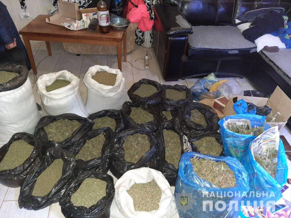 В Харьковской области у экс-милиционера нашли марихуану на миллион гривен
