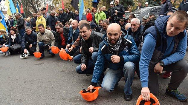 Шахтеры готовятся ко всеукраинскому протесту из-за долгов по зарплате