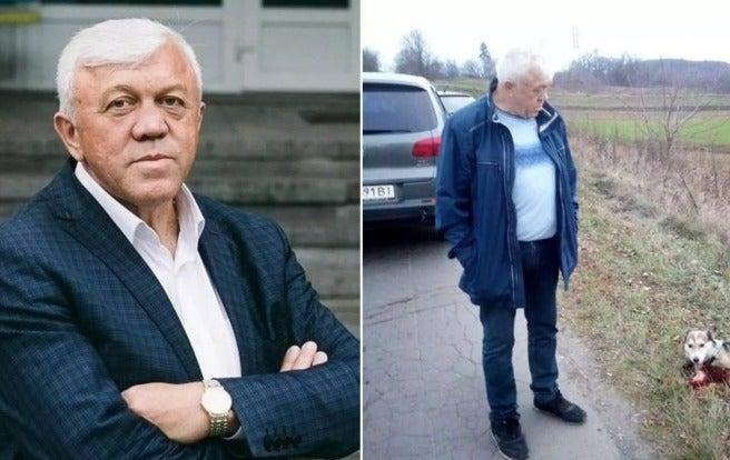 Глава госархива в Хмельницкой области привязал пса к авто и тащил по асфальту