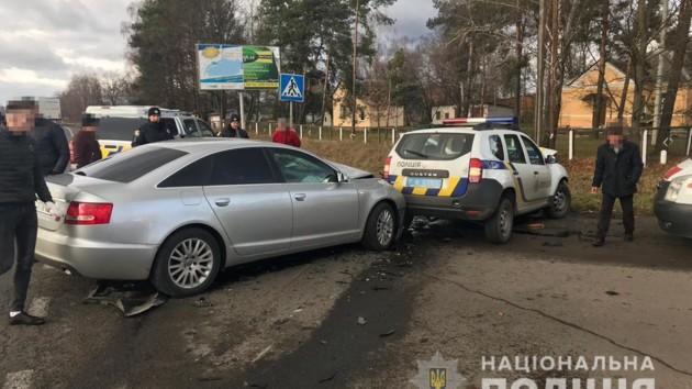 В Ковеле лихач въехал в полицейскую машину: пострадал командир спецназа