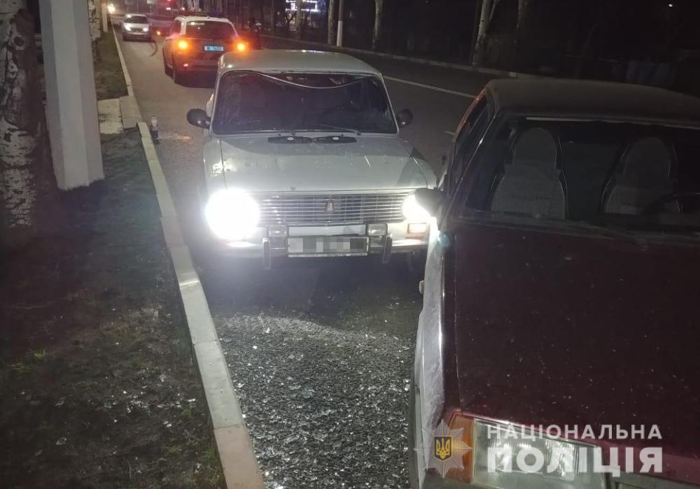 В Мелитополе угонщики авто сбили полицейского
