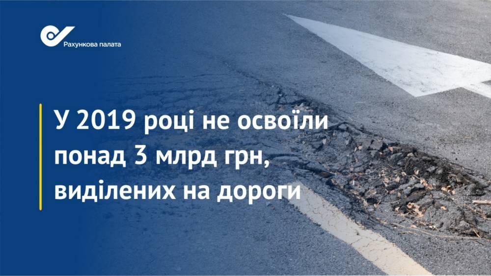 Счетная Палата обнаружила более 3 млрд гривен в Дорожном фонде, которые не смогли освоить
