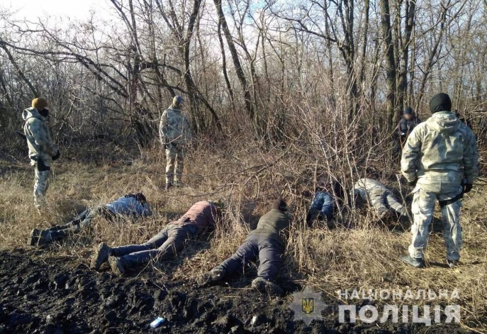 В Мариуполе задержали группу «черных» лесорубов