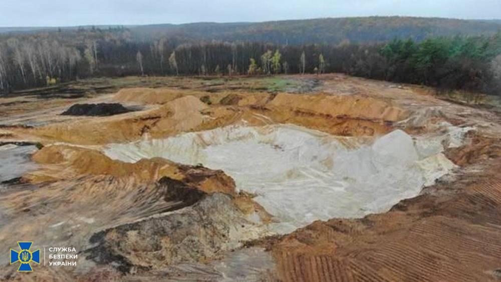 В Харьковской области фермер незаконно добыл песка на 65 млн гривен