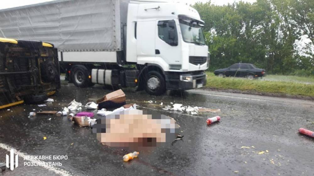 На трассе «Киев-Харьков» в аварии погиб полицейский
