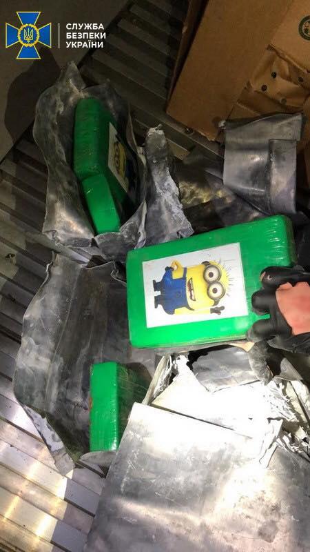 В порту Южный в контейнере с бананами обнаружили партию кокаина на 200 млн гривен