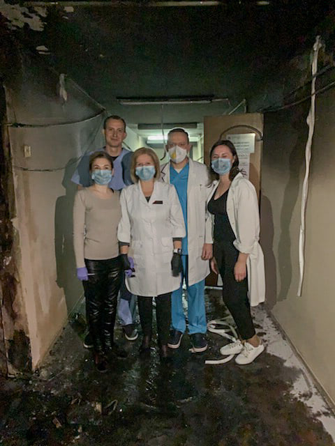 В Киеве устроили поджог в Александровской больнице