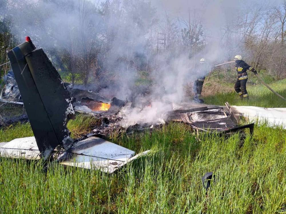 В Днепропетровской области разбился учебный самолет с двумя пилотами