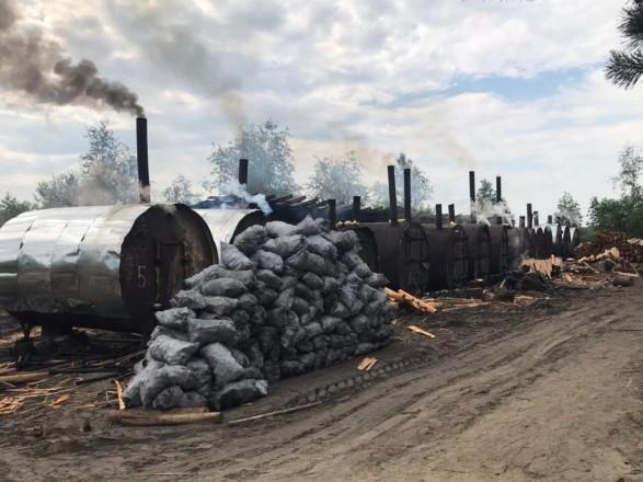 В Березновском районе нашли подпольное производство древесного угля