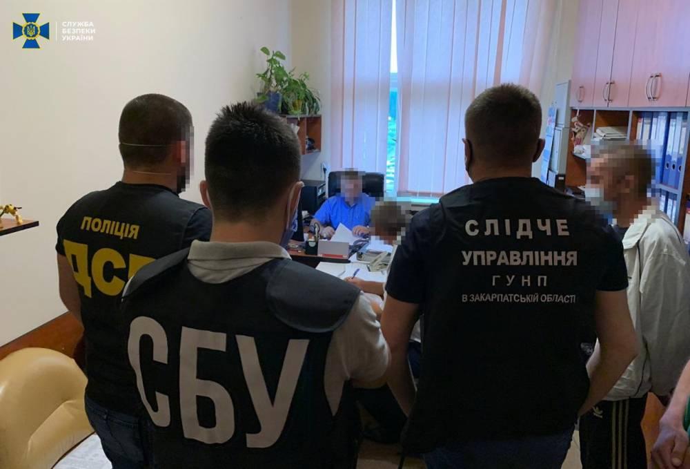 СБУ проводит обыски в Закарпатской ОГА