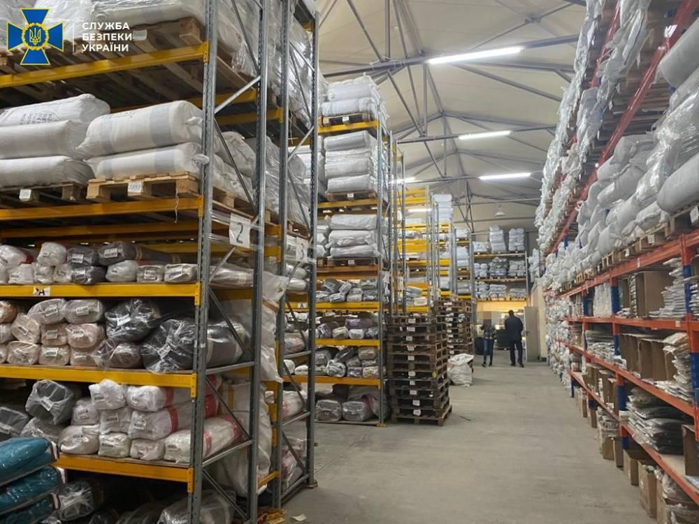 СБУ обнаружила масштабную схему незаконного импорта тканей на сотни миллионов гривен