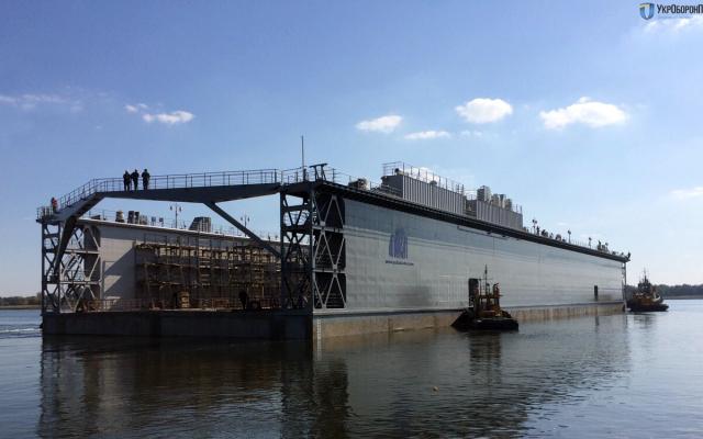 Херсонский завод «Паллада» построит плавучий причал для Минобороны