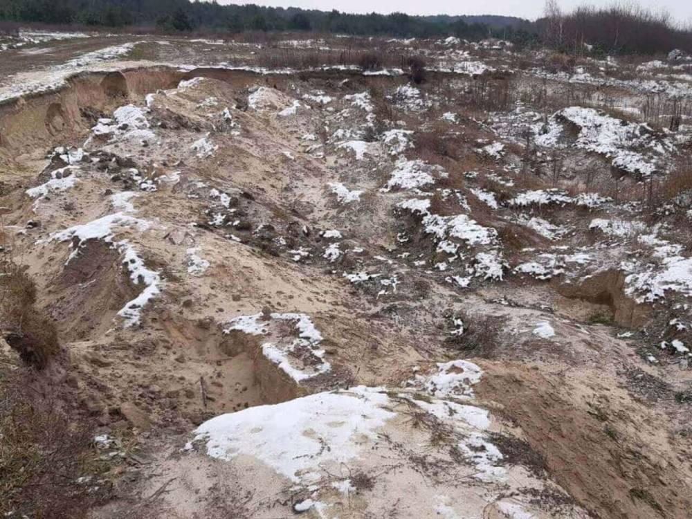 В Волынской области незаконно добывали песок