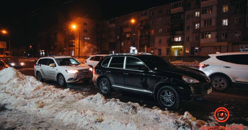 В Днепре задержали водителя Porsche, сбившего патрульного