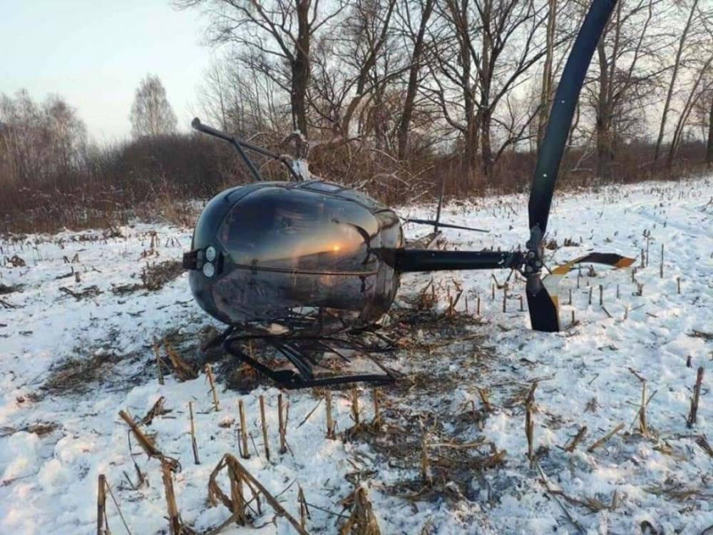 В районе Борисполя упал вертолет