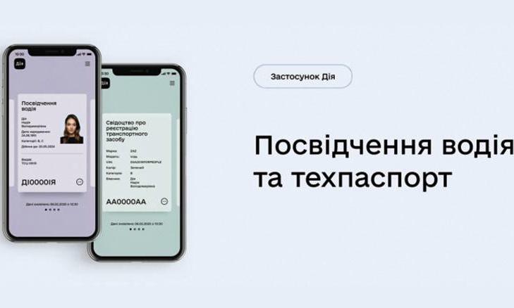 Верховная Рада приравняла электронные водительские права в «Дия» к бумажным