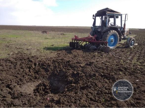 В Донецкой области на мине подорвался трактор