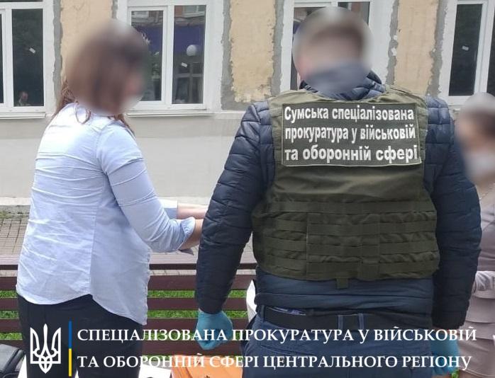 В Сумах замдиректора лицея Госпогранслужбы задержали на взятке