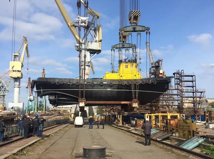 Порт Ольвия уже в третий раз ремонтирует один и тот же буксир