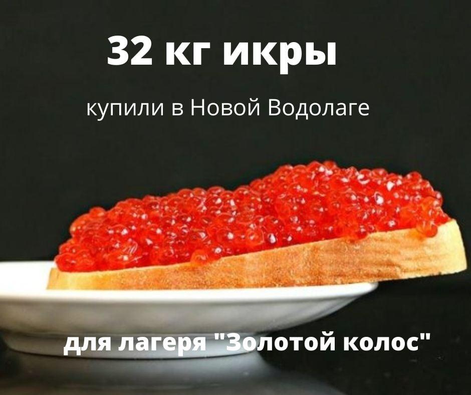 В Харьковской области детский лагерь купил 32 кг красной икры