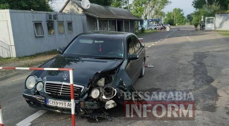 Пьяный измаильский полицейский врезался в пограничный пункт пропуска
