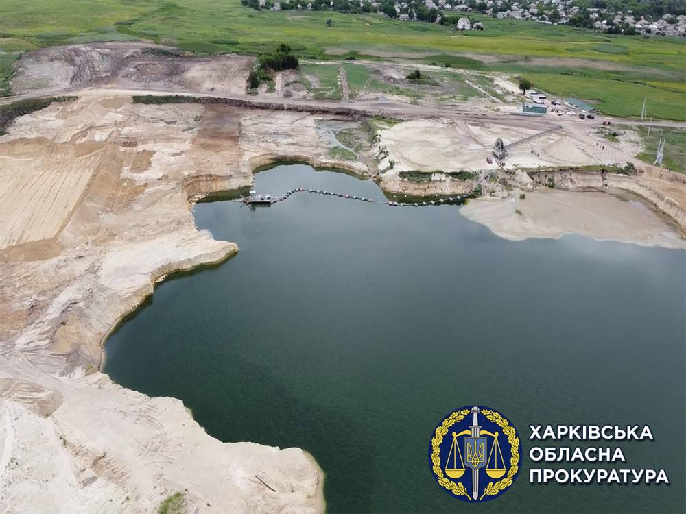 В Харьковской области нашли нелегальный песчаный карьер