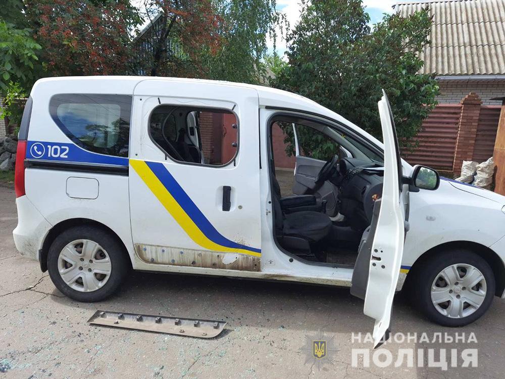 В Гуляйполе задержанный напал на полицейского и повредил авто