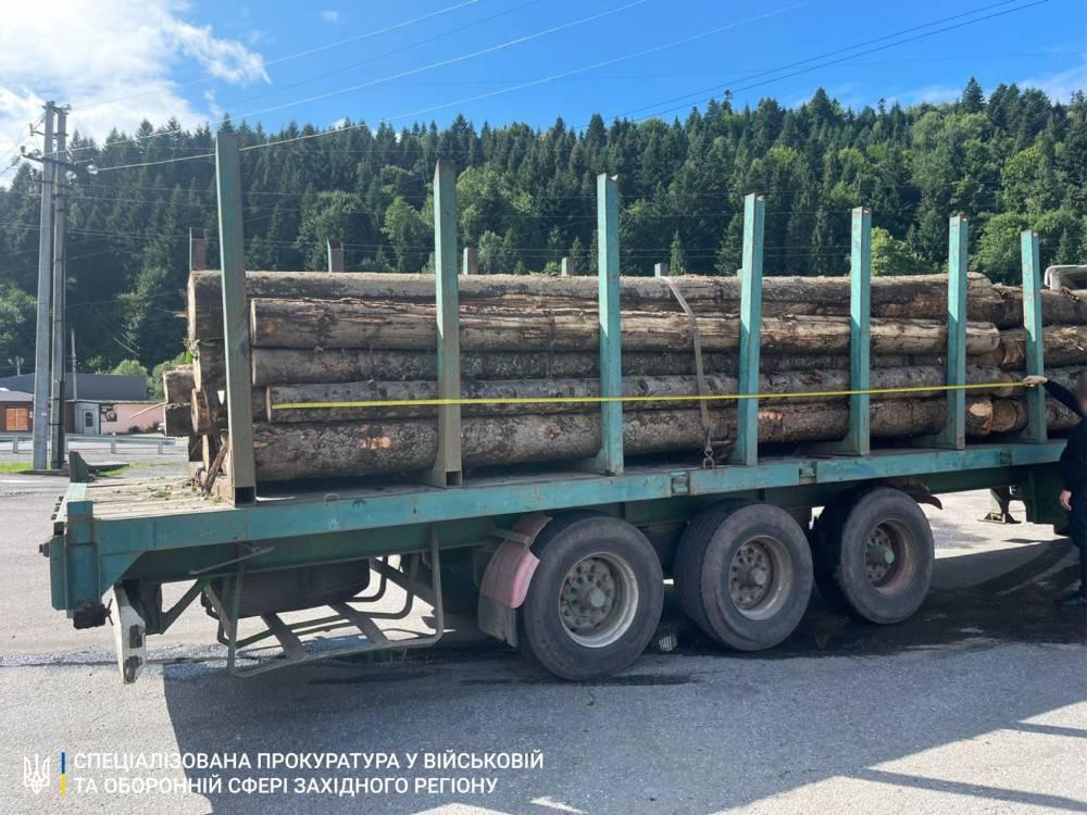 В Сколе из военного лесхоза пытались незаконно вывезти ценную древесину