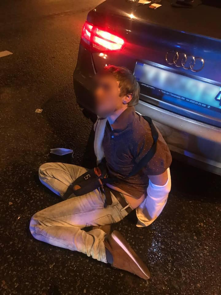 В Вышгороде пьяный активист на авто устроил перестрелку с полицией